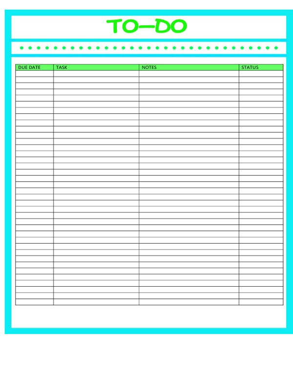 Blank Calendar List : Free printables monthly calendars with to do list the