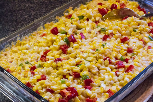 Corn-Cassarole-with-Peppers